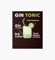 Gin Tonic Galeriedruck