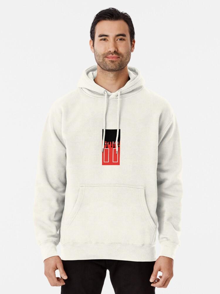 Mens Hoodie Sweatshirt Rolling Paint It Black-Stones Sweater Black