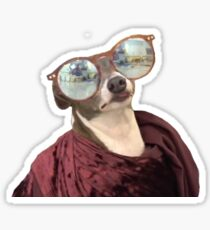 Jenna Marbles Dog Kermit In a leisure suit  Sticker