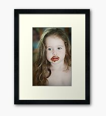 too much ice cream... Framed Print