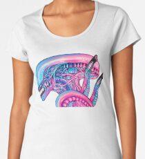 Cotton Candy Alien - Acrylic Painting Premium Scoop T-Shirt