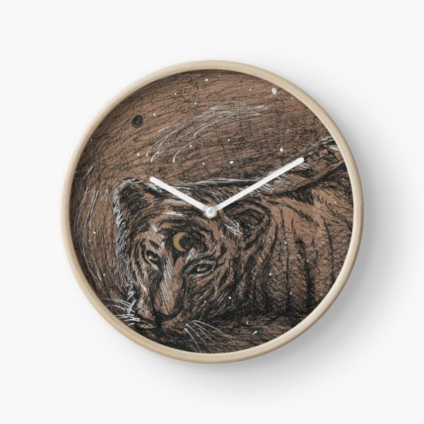 Moon Tiger Clock