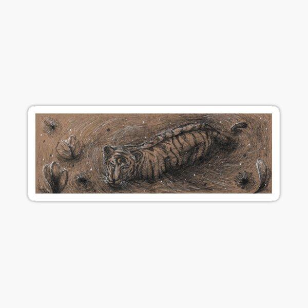 Moon Tiger Sticker