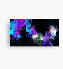 Space Worms Triptych Canvas Print