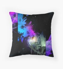 Space Worms Triptych Throw Pillow