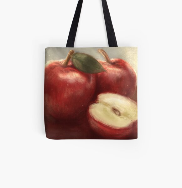 Apples All Over Print Tote Bag
