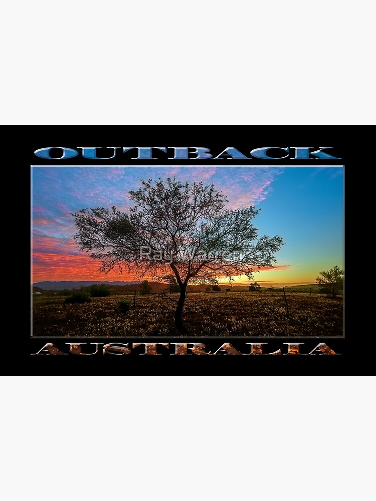 Outback Sunset (poster on black) by RayW