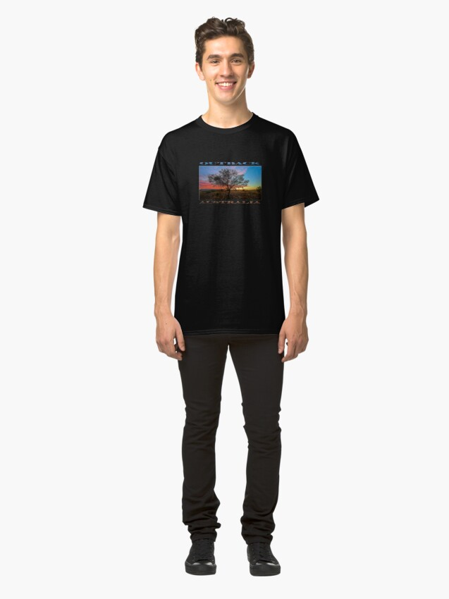 Alternate view of Outback Sunset (poster on black) Classic T-Shirt