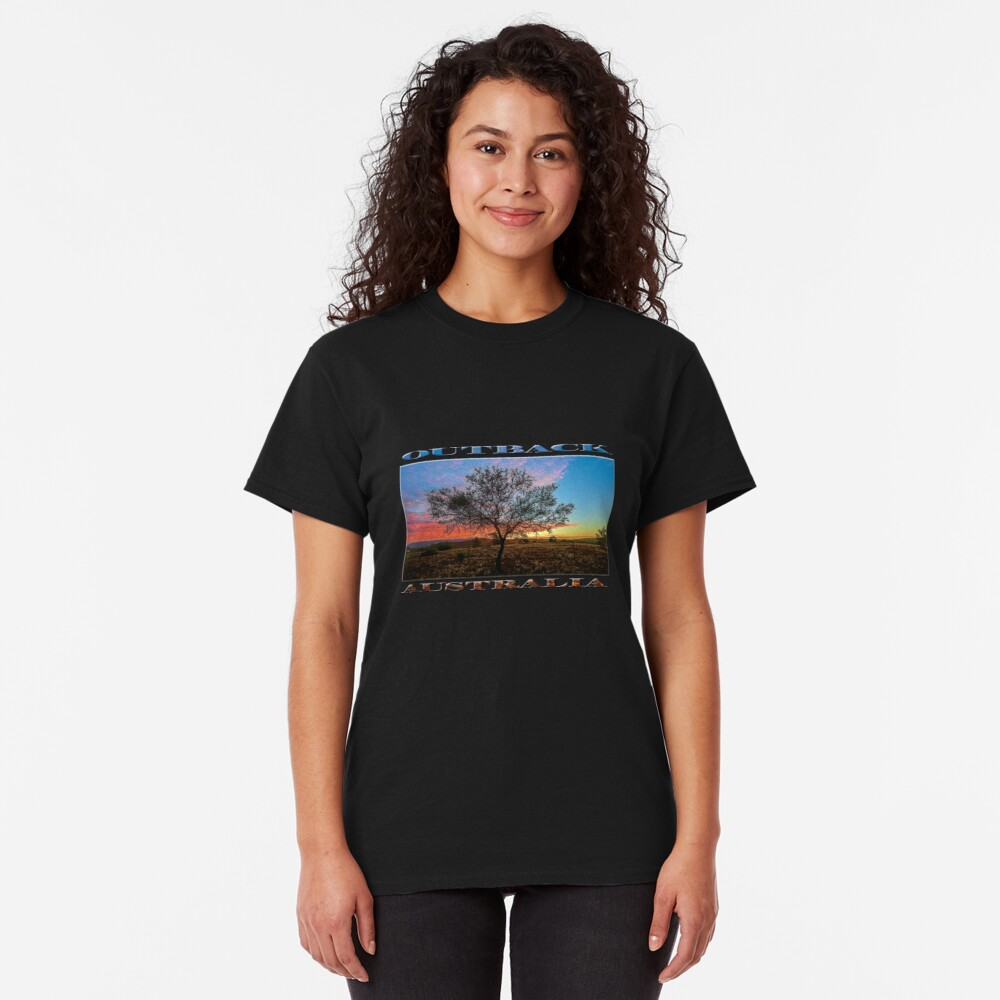 Outback Sunset (poster on black) Classic T-Shirt