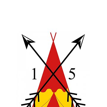 Red And Yellow TeePee 15 Arrowheads by brodienochie