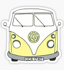 yellow hippie van Sticker