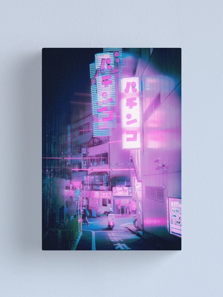 Alternate view of Neon Tokyo Canvas Print