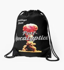 Greetings From Post-Apocalyptica!!! v2 Drawstring Bag