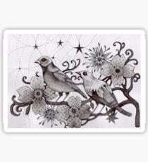 moonlight birds Sticker