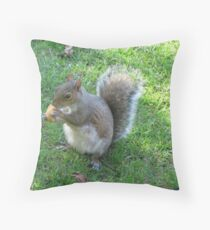 Tame Squirrel Throw Pillow