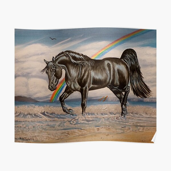 Walter Crane Neptune/'s Horses 1892 Vintage Fine Art Print