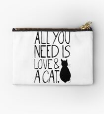 All You Need Is Love and A Cat Studio Pouch