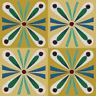 Gold Egyptian tiles by Aakheperure