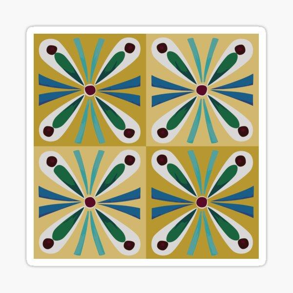 Gold Egyptian tiles Sticker