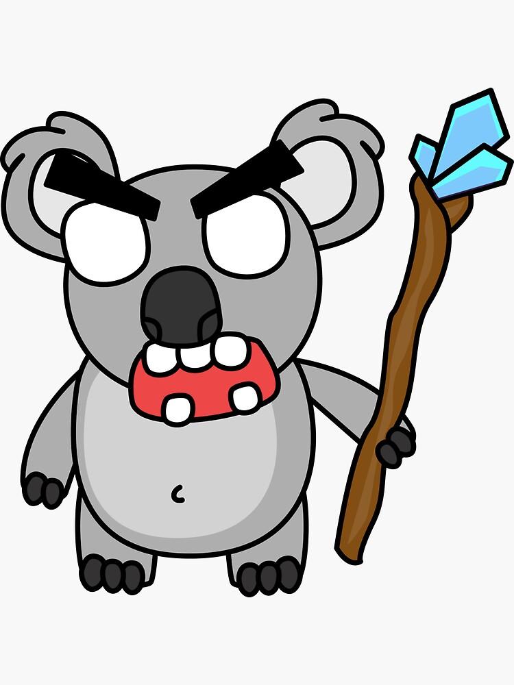 angry zombie koala by shortstack