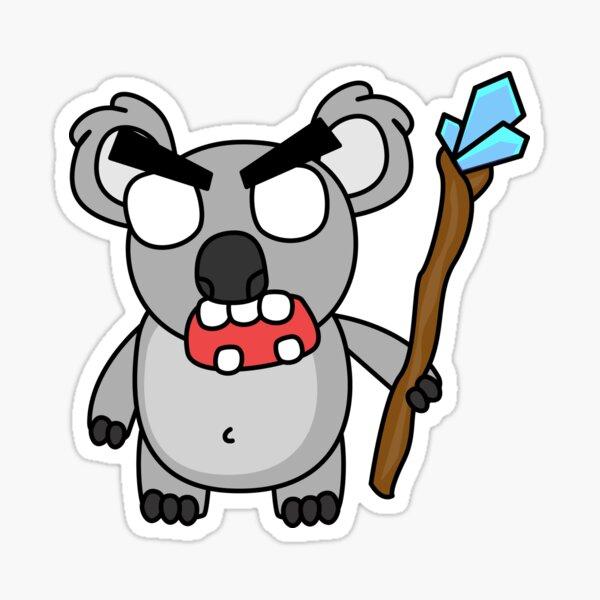 angry zombie koala Sticker