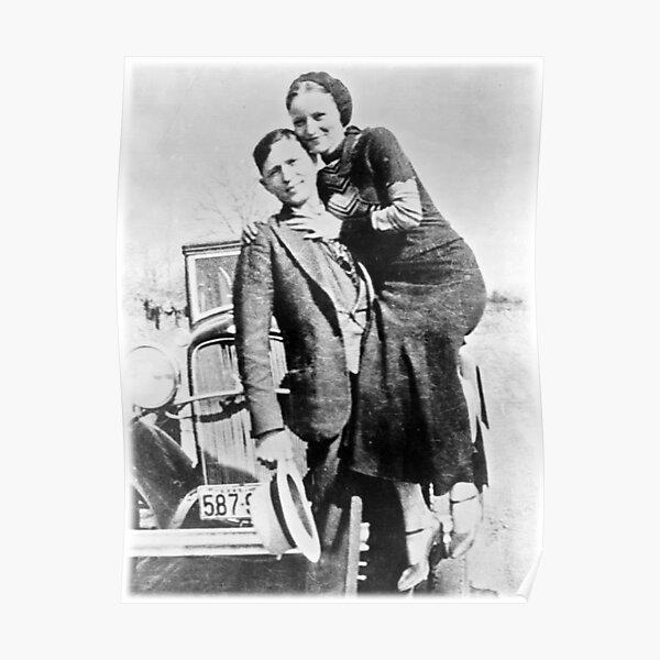 BONNIE PARKER /& CLYDE BARROW vintage 1933 poster 24X36 FAMED VILLAINS hot