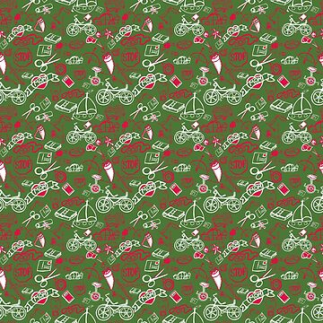Christmas pattern - by Jezli Pacheco by BummerGifts