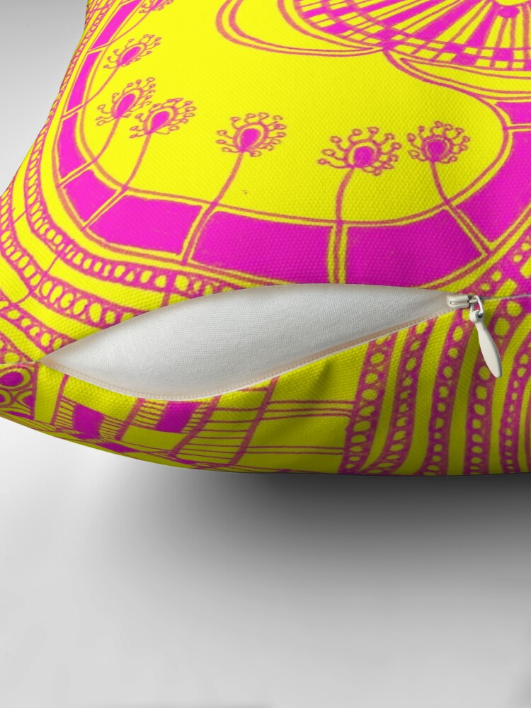 Alternate view of Psychedelic Throw Pillow