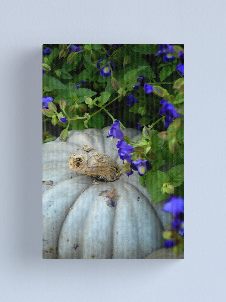 Alternate view of Pumpkin and Purple Flowers Canvas Print