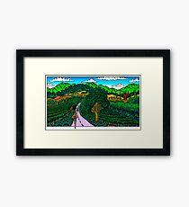 Runner in Wine Country Framed Print