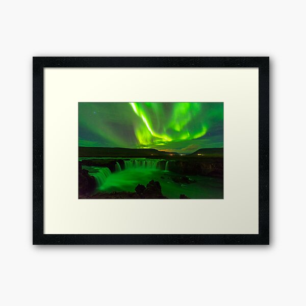 Northern Lights Iceland Framed Art Print