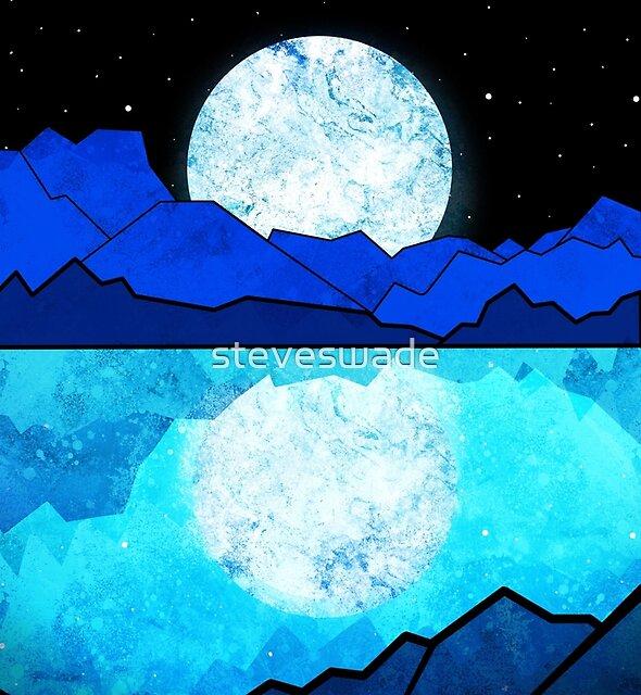 A full moon rises  by steveswade