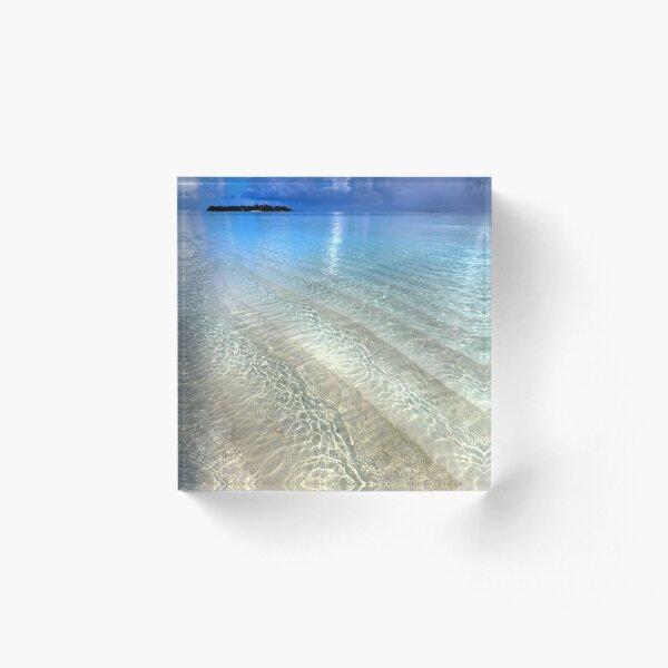 Crystal Water of the Ocean Acrylic Block