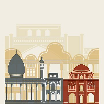 Shiraz skyline poster by paulrommer