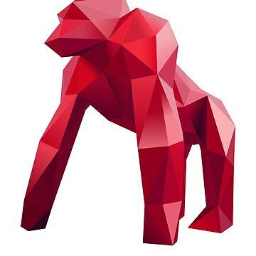 Ruby Origami Gorilla by augenpulver