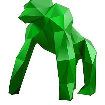 Emerald Origami Gorilla by augenpulver