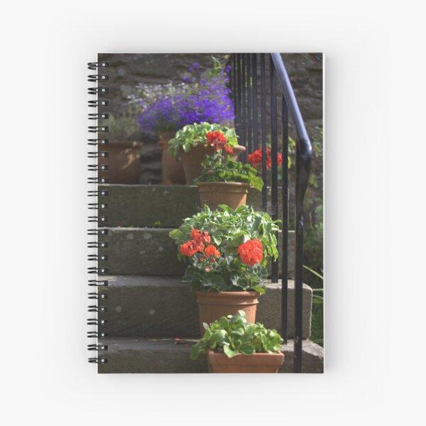 Pot plants and garden steps Spiral Notebook