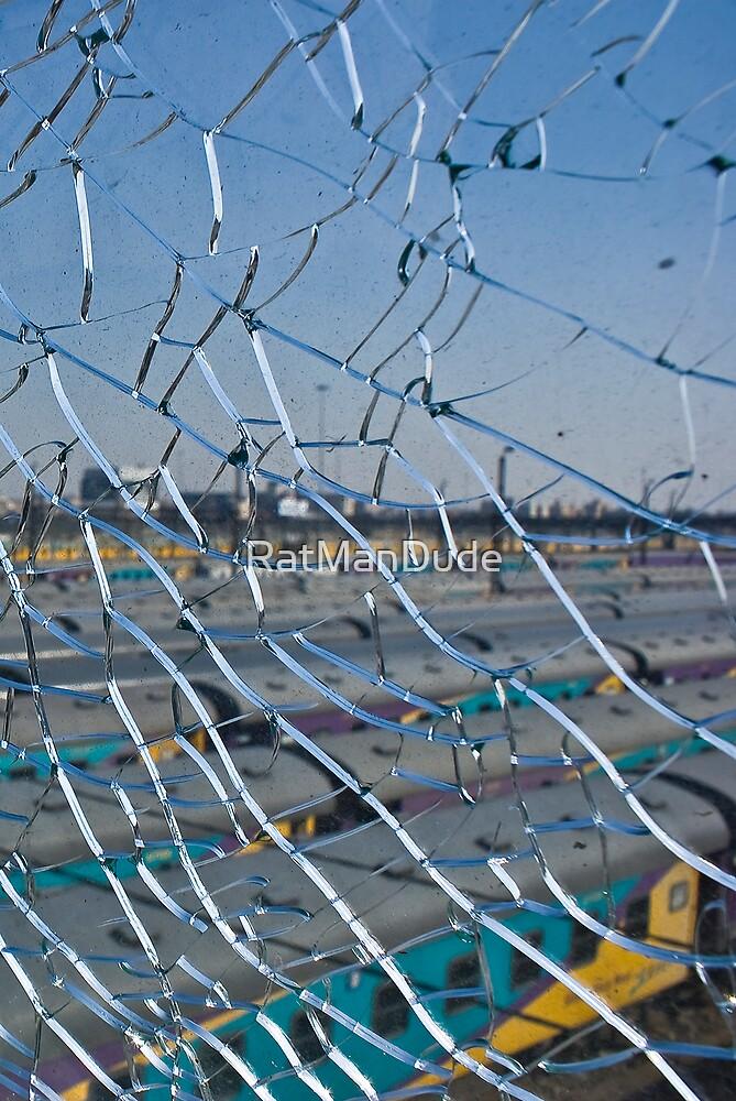 Broken Safety Glass Barrier by RatManDude