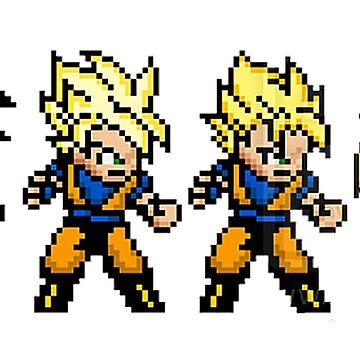 Goku Super Saiyan Forms 16 Bits by SenxCreations