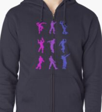 Fortnite Emote Dances Zipped Hoodie