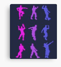 Fortnite Emote Dances Canvas Print