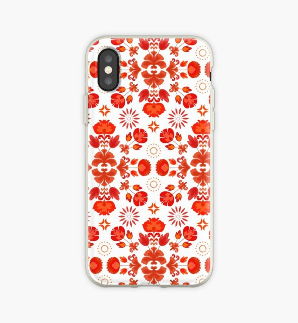 «Fiesta Folk Red #redbubble #folk» de designdn