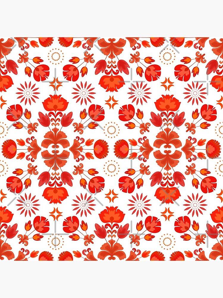 Fiesta Folk Red #redbubble #folk by designdn
