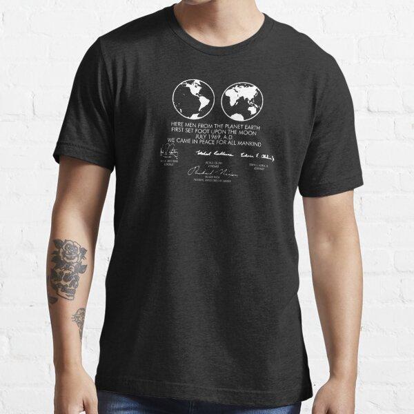 Apollo 11 Lunar Plaque Essential T-Shirt