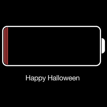 Halloween Low Battery by Eurozerozero
