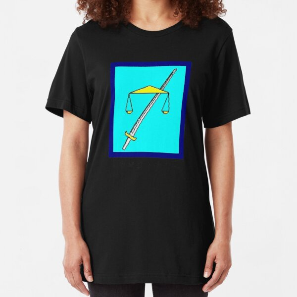 TempleOS text logo Slim Fit T-Shirt