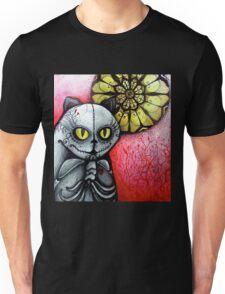 sugar skull goth skeleton cat & moon Unisex T-Shirt