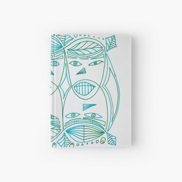Green Man Heads Hardcover Journal