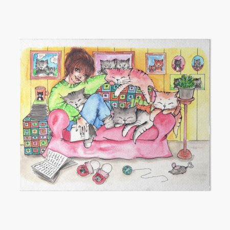 The cat lady's house  Art Board Print