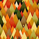 «Profundamente en la textura de bosque de otoño II» de OwlyChic